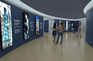 An artist's rendering of the Grotto Gallery