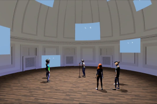 AREAS Screen Capture of a student poetry reading in the Dome Room